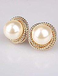 Earring Stud Earrings Jewelry Women Alloy / Imitation Pearl 2pcs Silver