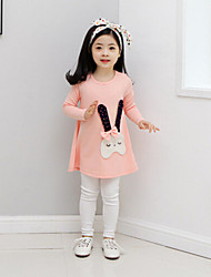 Girl's Clothing Set,Rayon Spring / Fall Pink / Red