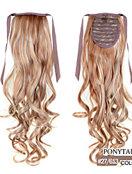 """22"""" Smooth Natural Fashionable Wig Hairpiece Ponytail Hair Extensions Clip in on Long Wavy for Womans / Girls"""
