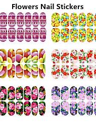 1pcs Glowing Flower Nail Stickers