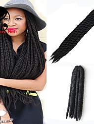 Marley Braiding Hair Afro Twist Braids Hot Selling Black Color Synthetic Braid Hair