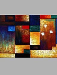 100% hecho a mano la pintura del cepillo figura geométrica casa moderna de la pared arte colorido