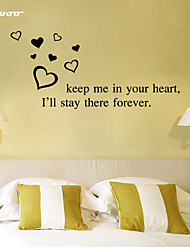 AWOO® Keep Me In Your Heart Wall Sticker DIY Home Decorations Quotes Vinyl Wall Decals Wall Mural Art