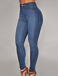 Women's Medium Wash Denim High-Waist Skinny Jeans