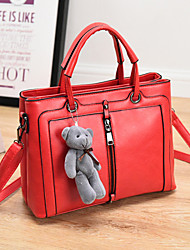 Women's Fashion Casual PU Leather Messenger Shoulder Bag/Tote