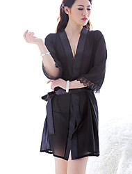 Women Lace Lingerie / Robes Nightwear , Core Spun Yarn / Lace / Spandex