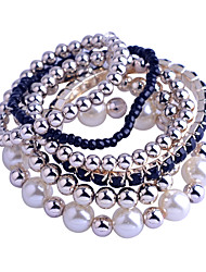 Korean Pearl/Measle/Crystal Bracelet Suit