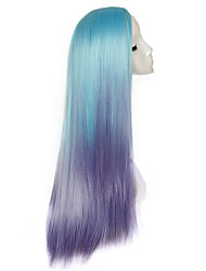 Mermaid Mixed Color Cosplay Synthetic Wig