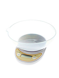 "wh-b04 électronique 1.7 ""LCD Digital Kitchen échelle de plate-forme (5 kg / 1g, 2 x AAA)"