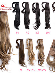 "Wrap Around 18"" Straight Synthetic Ponytail Pony Hair Extensions Hair wigs Pieces,1 Piece,63g,Blonde Mix Ty.Hermenlisa"