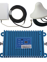 Intelligence Dual Band GSM/3G 900/2100MHz Mobile Phone Signal Booster Amplifier + Outdoor Panel Antenna Kit