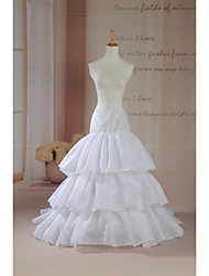 Slips Chapel Train Cathedral-Length 2 Tulle Netting White