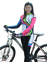 FJQXZ Cycling Jersey with Tights Women's Long Sleeve Bike Sleeves Clothing SuitsThermal / Warm Quick Dry Windproof Ultraviolet Resistant