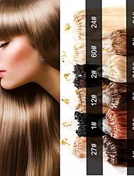Evet extensiones brasileñas del pelo micro anillo bucle brasileña virginal del pelo 0.5g recta / hebra 100strands / lot 50g