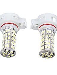 2pcs Car H16 5202 5201 Fog Lamp headlight Bulb White 68 SMD LED Light 12V 400LM