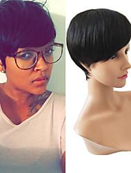 Hot Sale Cheap 7A Pic Curl Virgin Brazilian Machine Made Wigs Glueless None Lace Short Wigs For Black Women