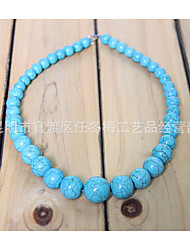HUALUO®Vintage Turquoise Bead Necklace