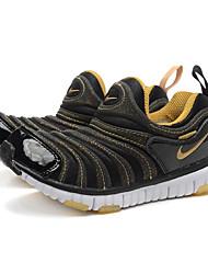 zapatillas Nike niños libres 'zapatillas de deporte de moda en cuero napa / deportivo / tul al aire libre negro / amarillo / púrpura