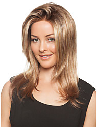 Long Straight Hair European Weave Brown Color Hair Wig