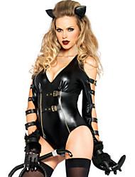 Costumes de Cosplay Animal Fête / Célébration Déguisement Halloween Noir Collant/Combinaison / Coiffure Carnaval FémininElasthanne /