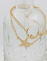 Fashion Jewelry High Quality Simple Star And Moon Bracelet