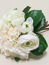 "Wedding Flowers Round Peonies Bouquets Wedding Pink / Red / White / Beige / Purple Satin 8.66""(Approx.22cm)"