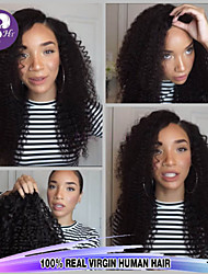 pleine de cheveux humains en dentelle perruques dentelle densité brésilienne de cheveux bouclés vierge profonde suisse de 130% pour les