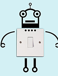 Wall Stickers Wall Decals Style New Robot Switch Removable PVC Wall Stickers