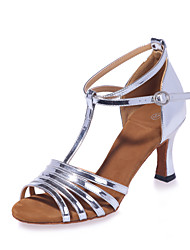 Non Customizable Women's Dance Shoes Leatherette Leatherette Latin Sandals Flared Heel Practice / Professional / Indoor / Performance