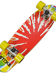 "26"" X 7.2"" Cruiser Skateboard with Abec-9 Bearings 60 X 45mm Wheels Tie-dye Graphic"