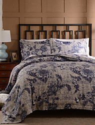 Simple OpulenceDuvet Cover Set Microfiber luxury Printed Navy Blue Include Quilt Cover Pillow Cases Queen King