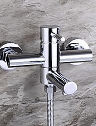 Bathtub Faucet - Contemporary Brass (Chrome)
