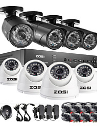 ZOSI®8 Channel HDMI 960H DVR 8 pcs 1000TVL IR Outdoor CCTV Camera Surveillance Security System