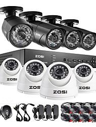 HDMI canal zosi®8 960H DVR 8 pcs 1000tvl sistema outdoor ir câmera de segurança CCTV vigilância