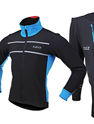 FJQXZ® Cycling Jersey with Tights Men's Long Sleeve Bike Waterproof / Dust Proof / Wearable / Reflective Strips / Reduces Chafing