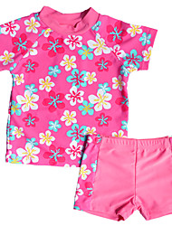 Kids Girl's Multi-color Summer Swimwear Floral Polyester / Nylon Swimming Suit UV Protection From Sunshine for 2~6Y