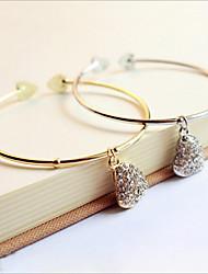 Goud / Zilver / Legering Dames Cuff armband Armbanden Bergkristal