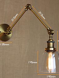 AC 100-240 40 E26/E27 Rustique Peintures Fonctionnalité for Ampoule incluse,Eclairage d'ambiance Applique murale