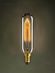 T10 E14 220В-240v 40w трубы творческий винтиком Эдисон лампочка