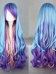 Amaloli 80CM Largo Azul Lolita peluca