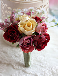 Wedding Flowers Fashion Free-form Roses Boutonnieres