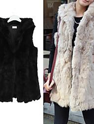 Women's Imitation Rabbit Fur Cappa Waistcoat Fur Coat
