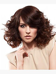 Brown  Color  Medium Synthetic Hair Wave Wigs Superior In Quality