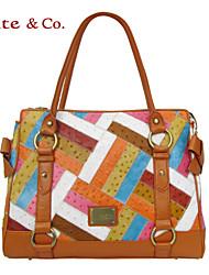kate.co® Women Cowhide Shoulder Bag Orange - TH-02147