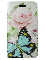 Green Butterfly Painted PU Phone Case for Huawei P8 Lite/P8