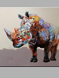 Peint à la main Animal Horizontale,Moderne Un Panneau Peinture à l'huile Hang-peint For Décoration d'intérieur