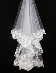 Wedding Veil One-tier Blusher Veils / Elbow Veils / Fingertip Veils Lace Applique Edge