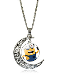 HUALUO®Hollow Carved Moon Time Gemstone Necklace Minis