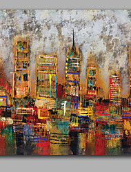 Abstract Modern Architecture Handmade IARTS Oil Painting Stretchered