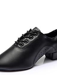 Latin Men's Dance Shoes Heels Low Heel Black